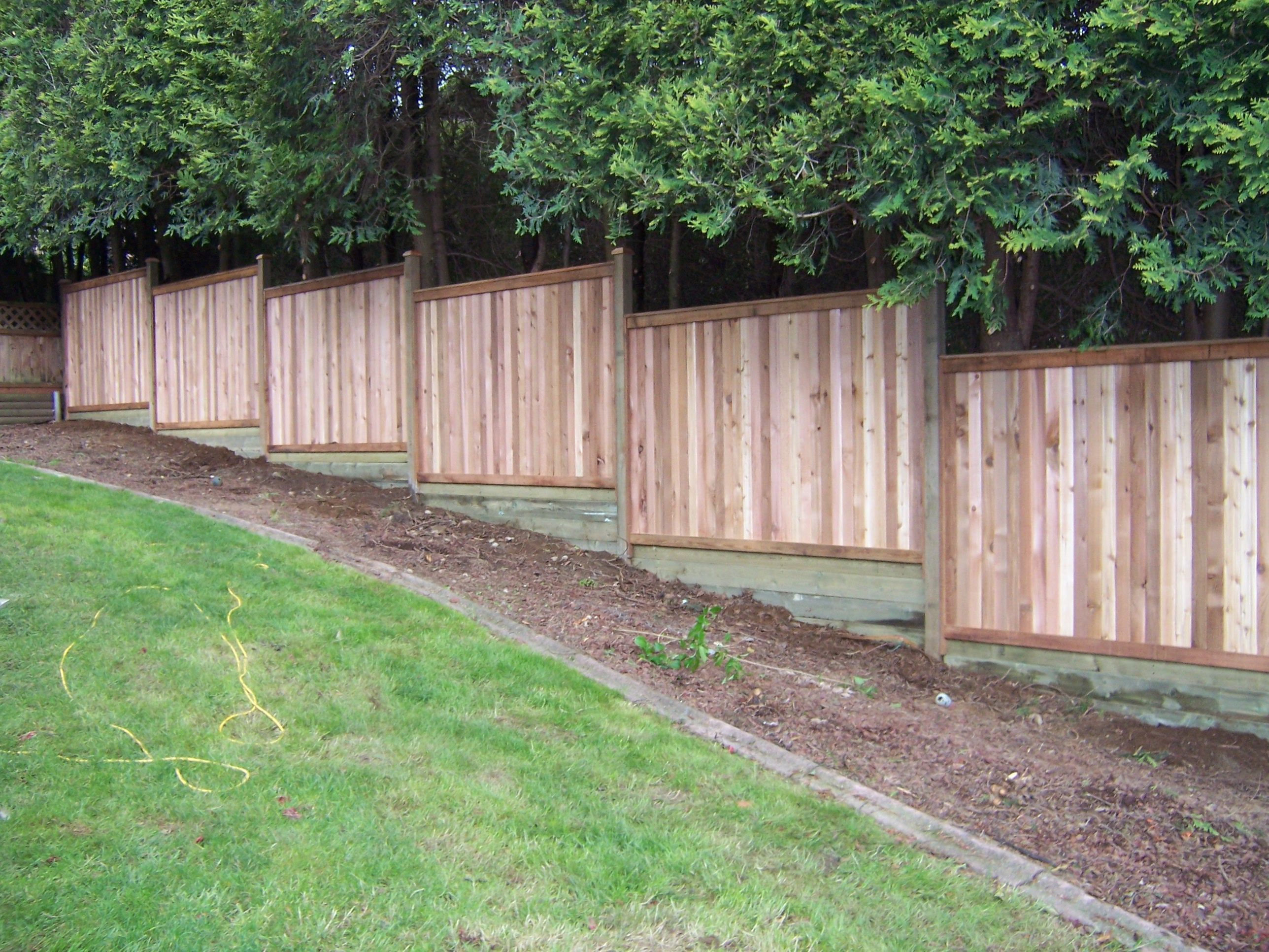 Ideas For Filling In Pre Fabbed Fence Sloping Grade