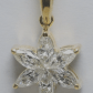 K yellow gold marquise cut invisible setting diamond flower