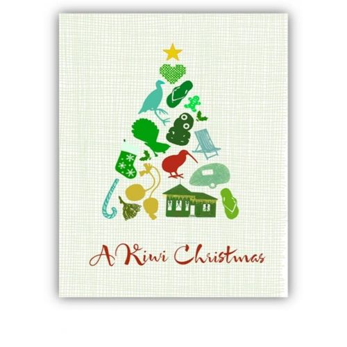 8 New Zealand Christmas Cards Set C OF A CHRISTMAS TREE