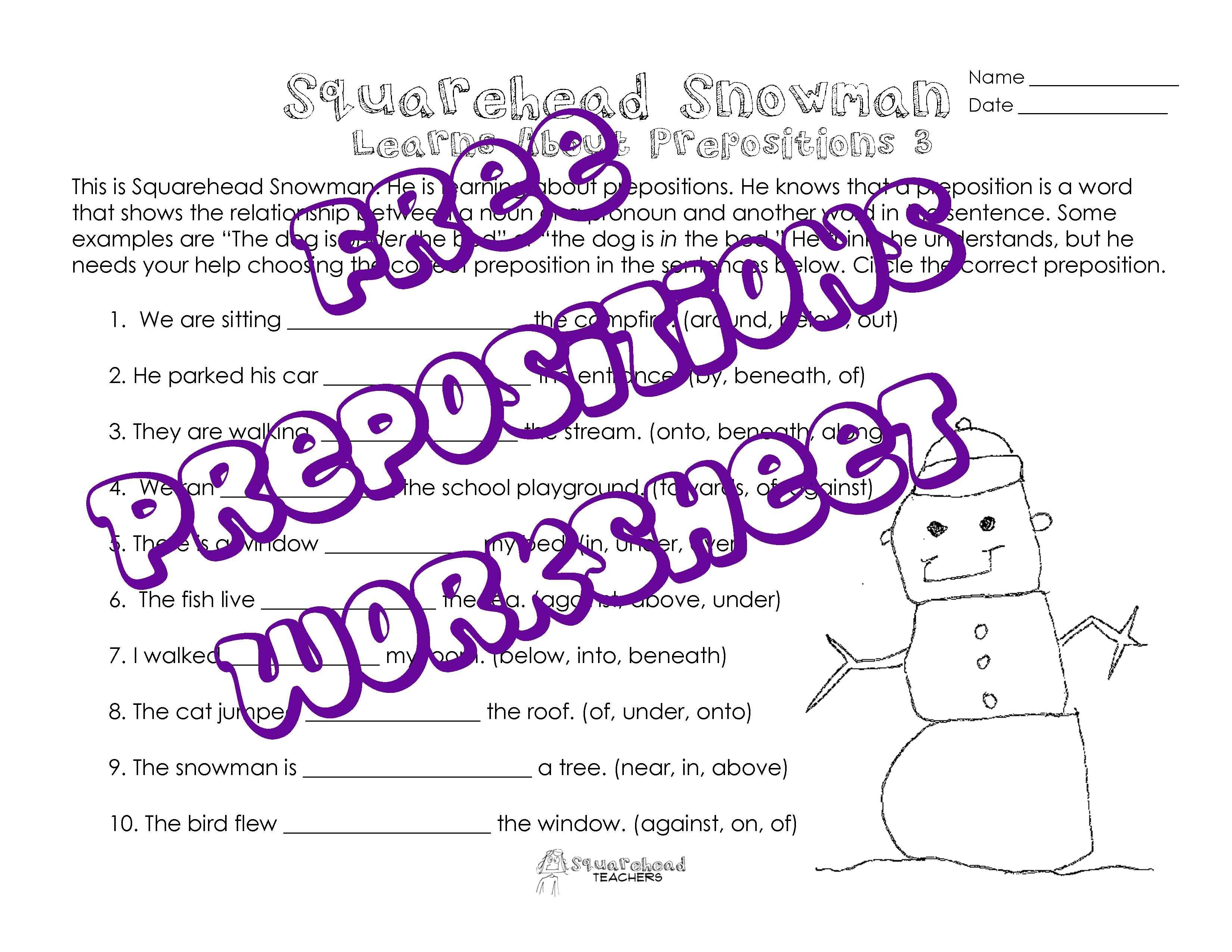 Squarehead Teachers Free Printable Worksheet Squarehead