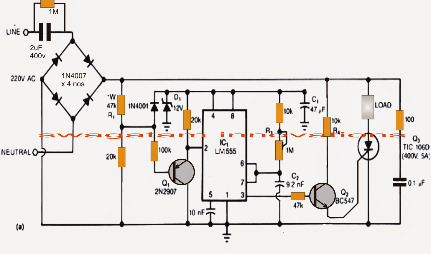Solid State Transformerless Power Supply Circuit Surge