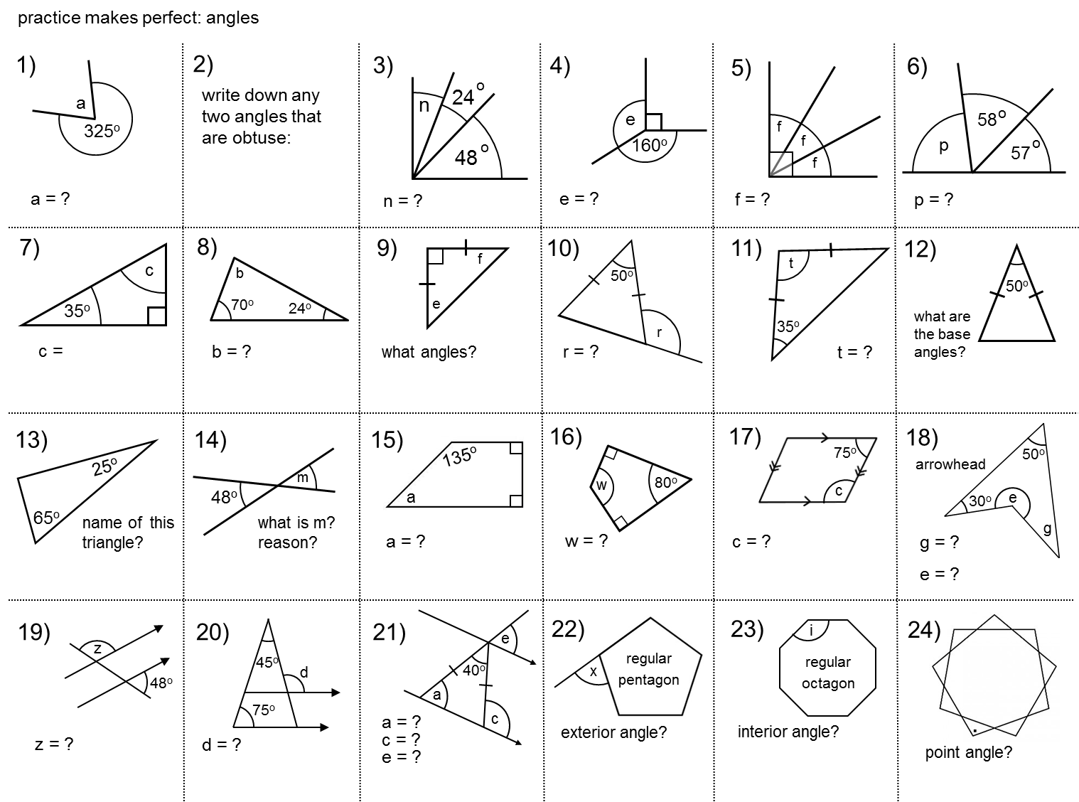 Median Don Steward Secondary Maths Teaching Angles Practice