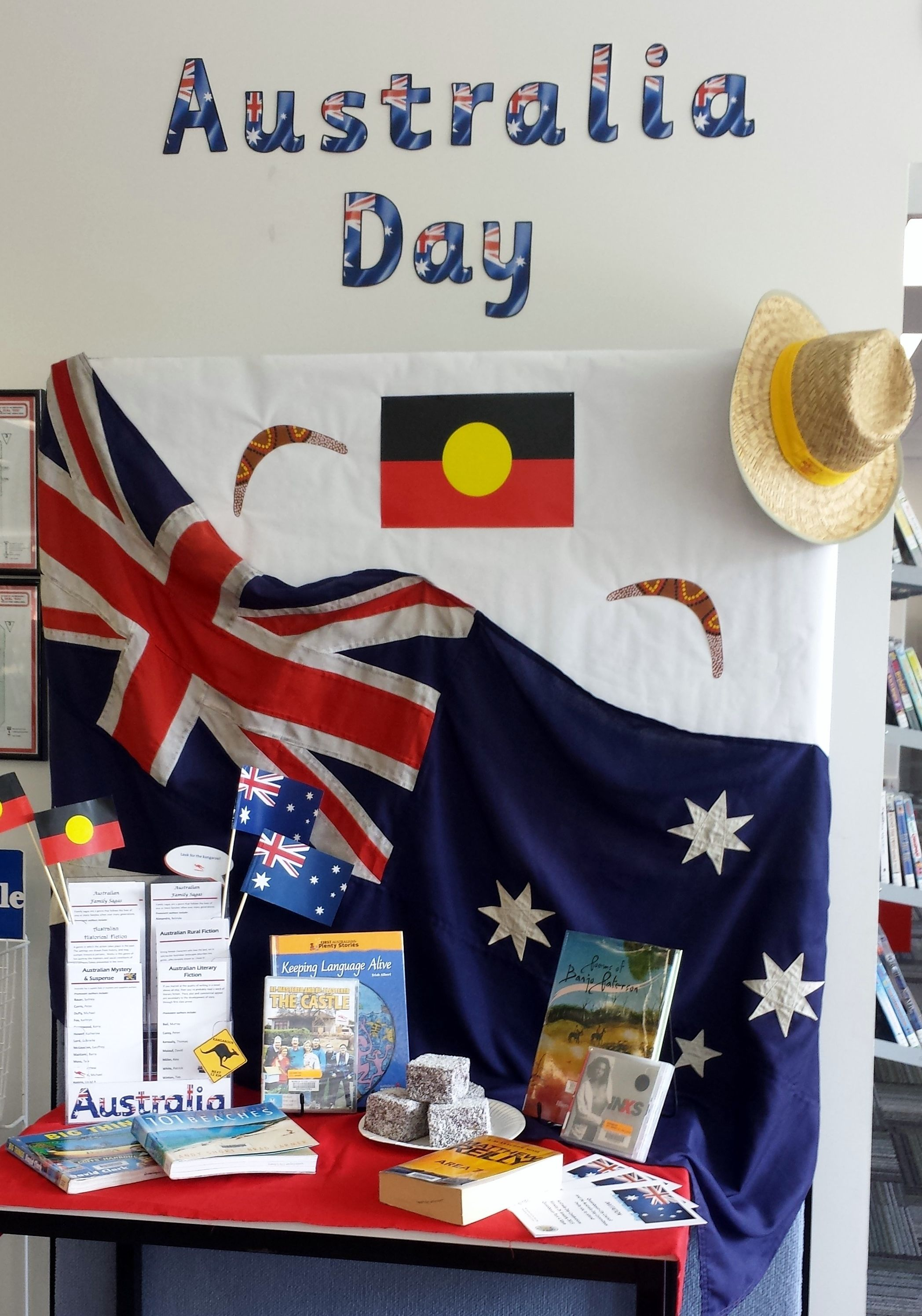 Australia Day Display Queanbeyan City Library