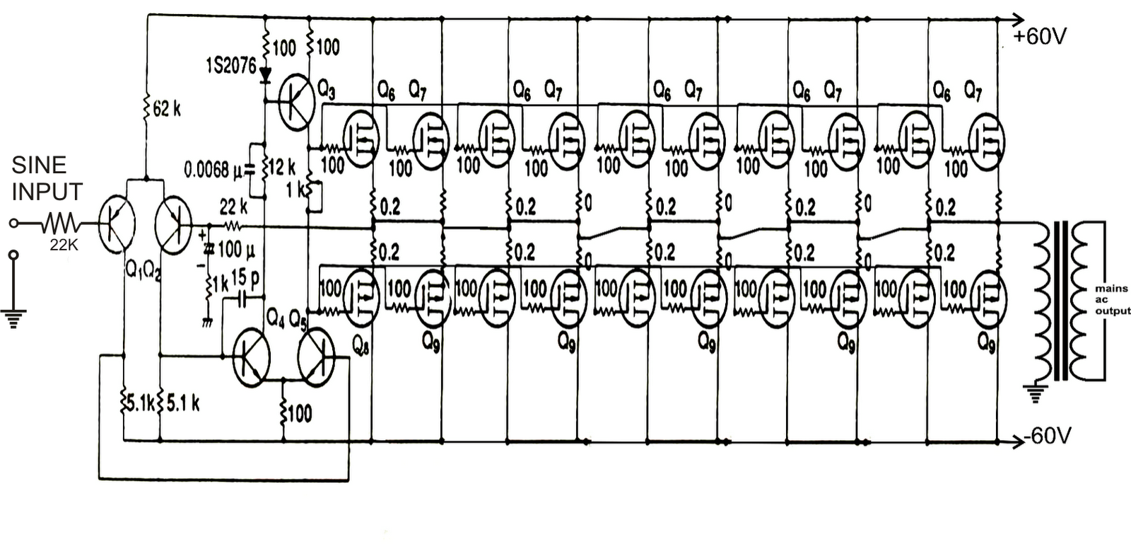 Make This 1kva Watts Pure Sine Wave Inverter Circuit