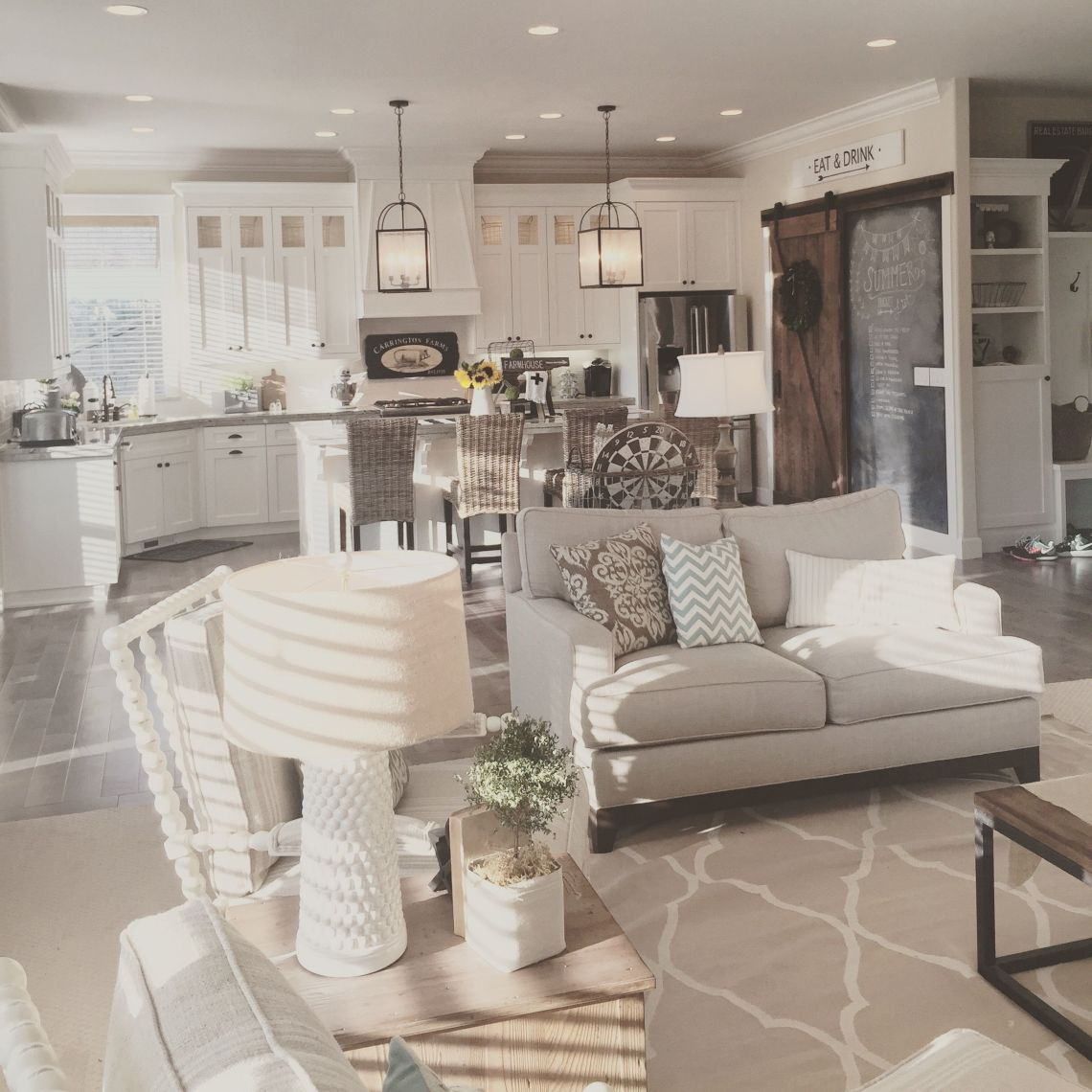 Turning a newly constructed home into a modern farmhouse ...