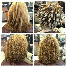 medium hair perm with pink and grey rods look book tspa pinterest medium hair perm and perms