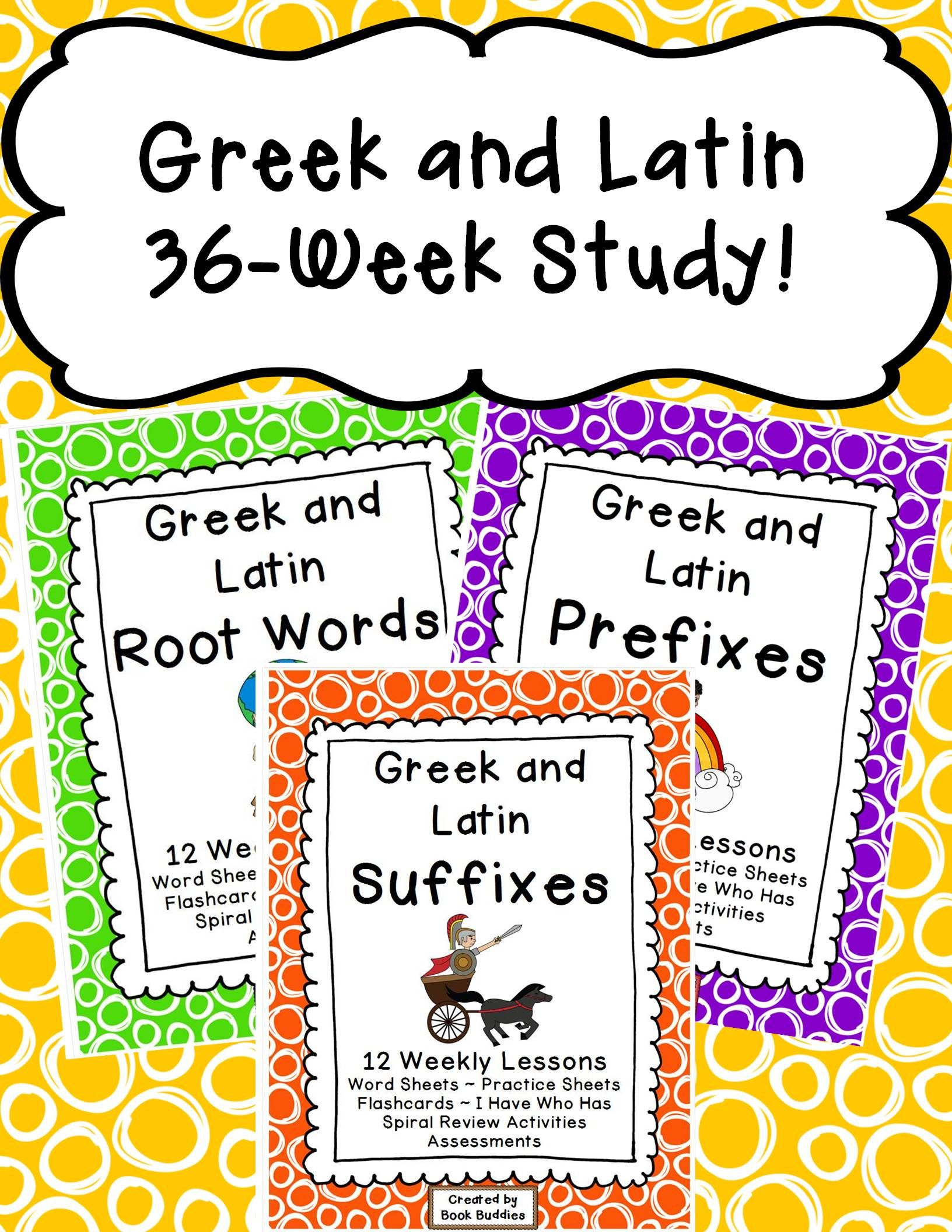 Prefixes Suffixes Root Words Greek And Latin