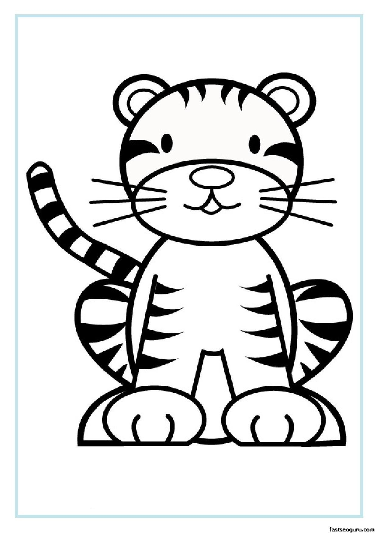 Baby Tiger Coloring Pages For Free Printable Coloring Page