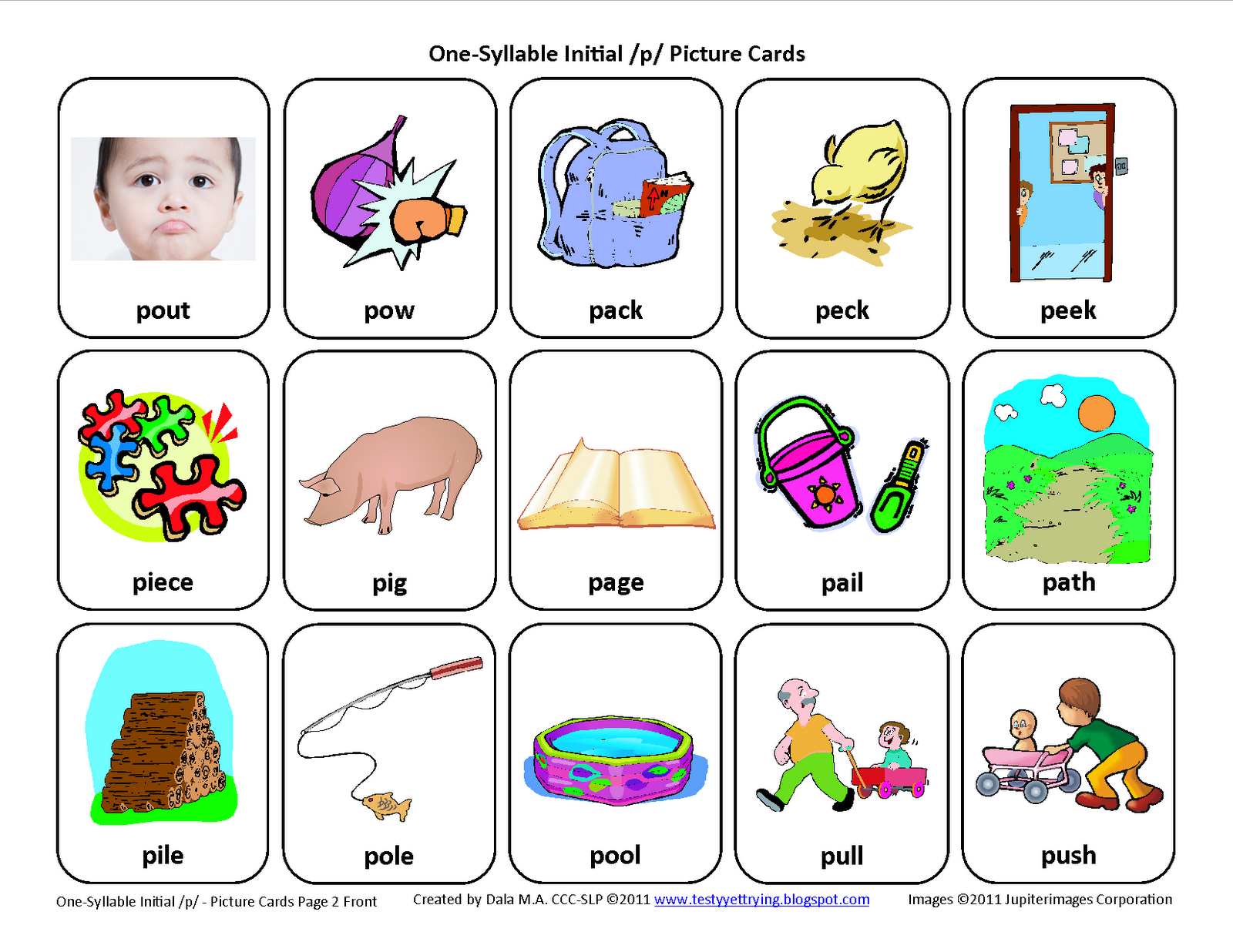 Initial P Articulation Card Download This Articulation Card Here Testyyettrying