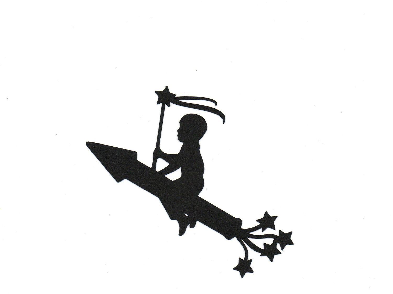 Boy On A Rocket Silhouette