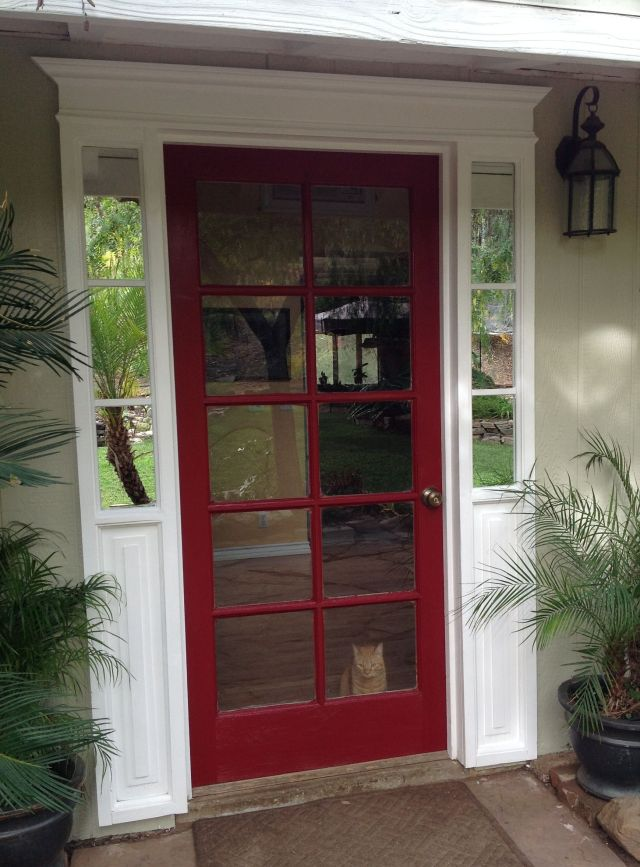 Front door redo finished 4 Frame paint crown moulding trim and