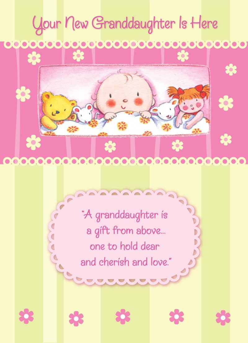 Congratulations on your new granddaughter baby