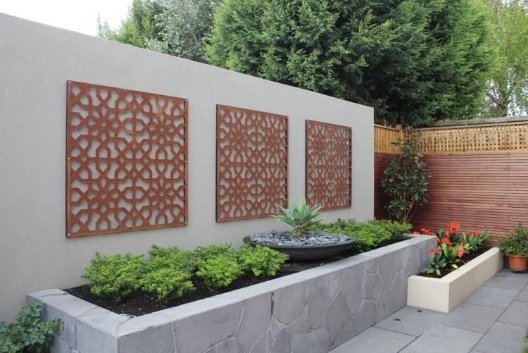 creative idea modern outdoor home design with high grey on backyard garden fence decor ideas id=11370