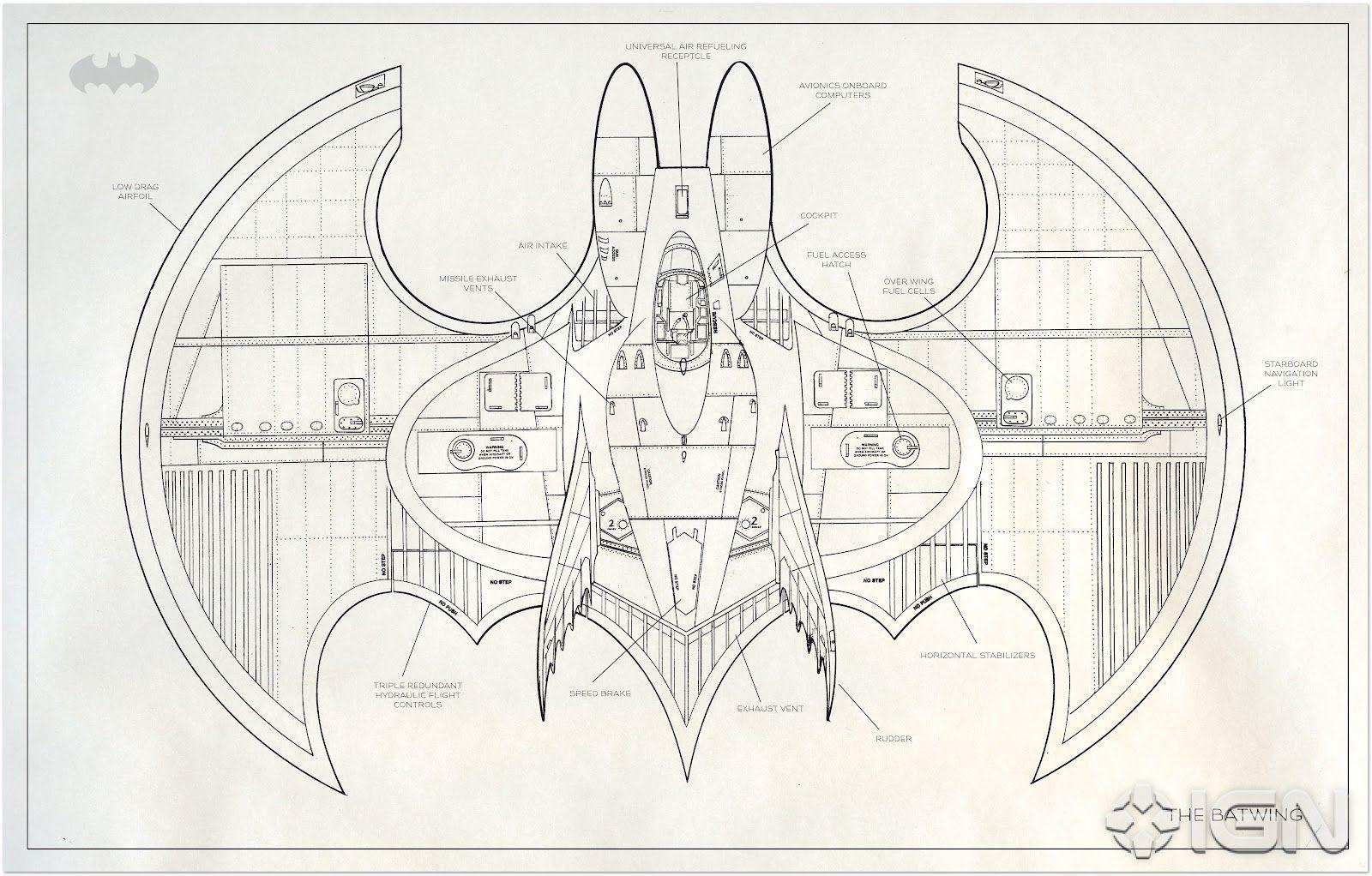 Tim Burton S Batwing Blueprint