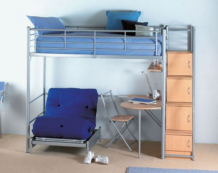 Loft Bed with Desk and Chair  American Freight Living Room Set