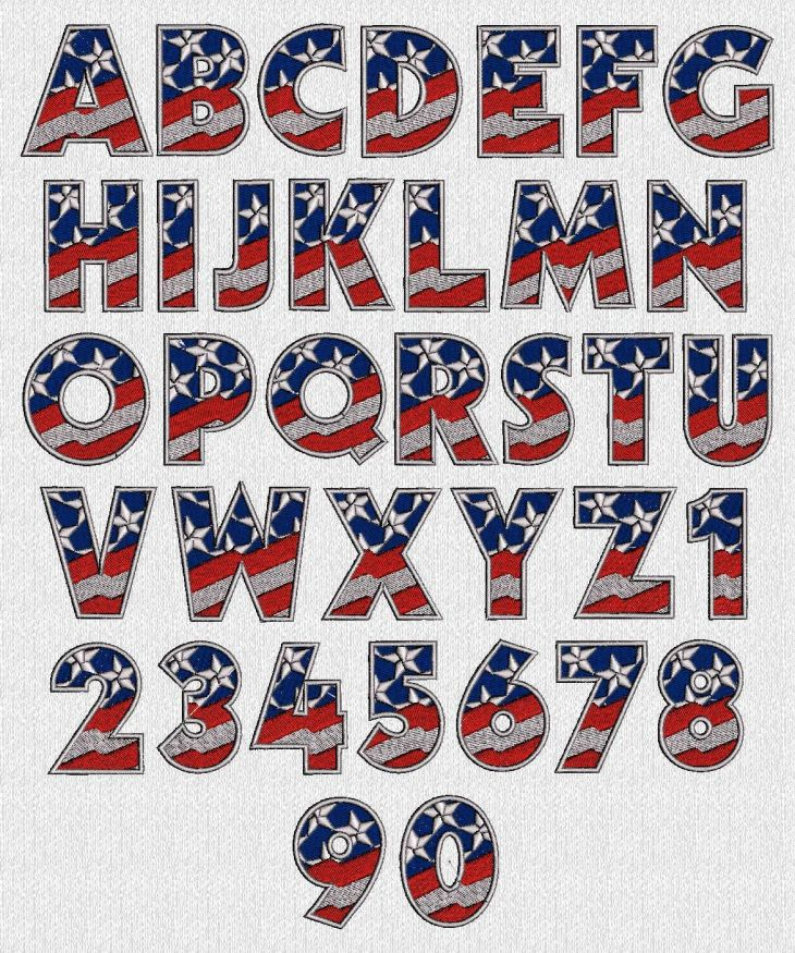 patriotic alphabet ABC Pinterest Cross stitch Stitch and