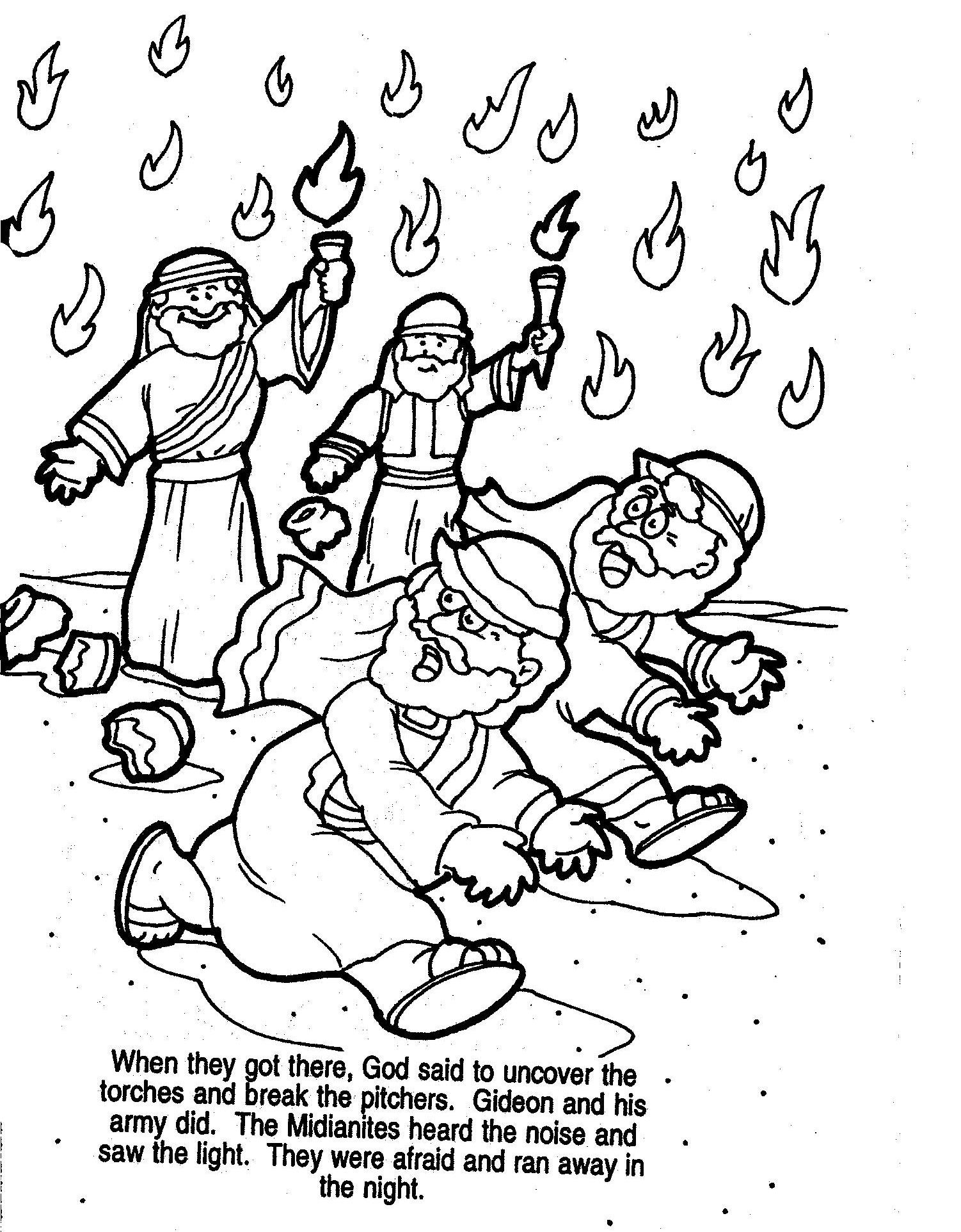 Gideon Printable Coloring Pages