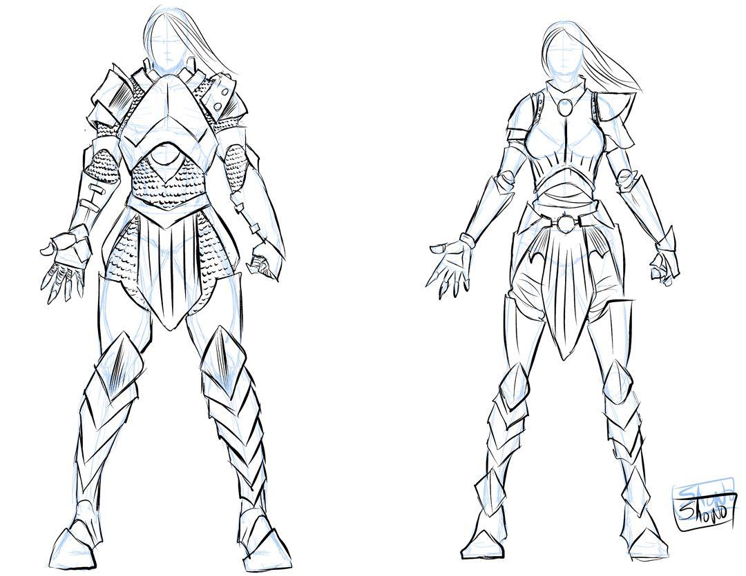 Draw Male Armor