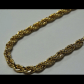 Selling this menus yellow gold plated in rope bracelet on