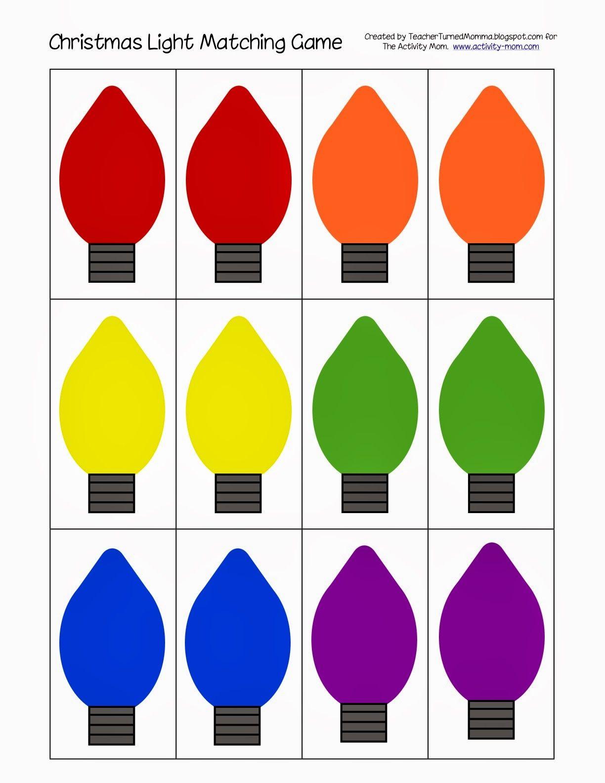 Printable Christmas Light Matching