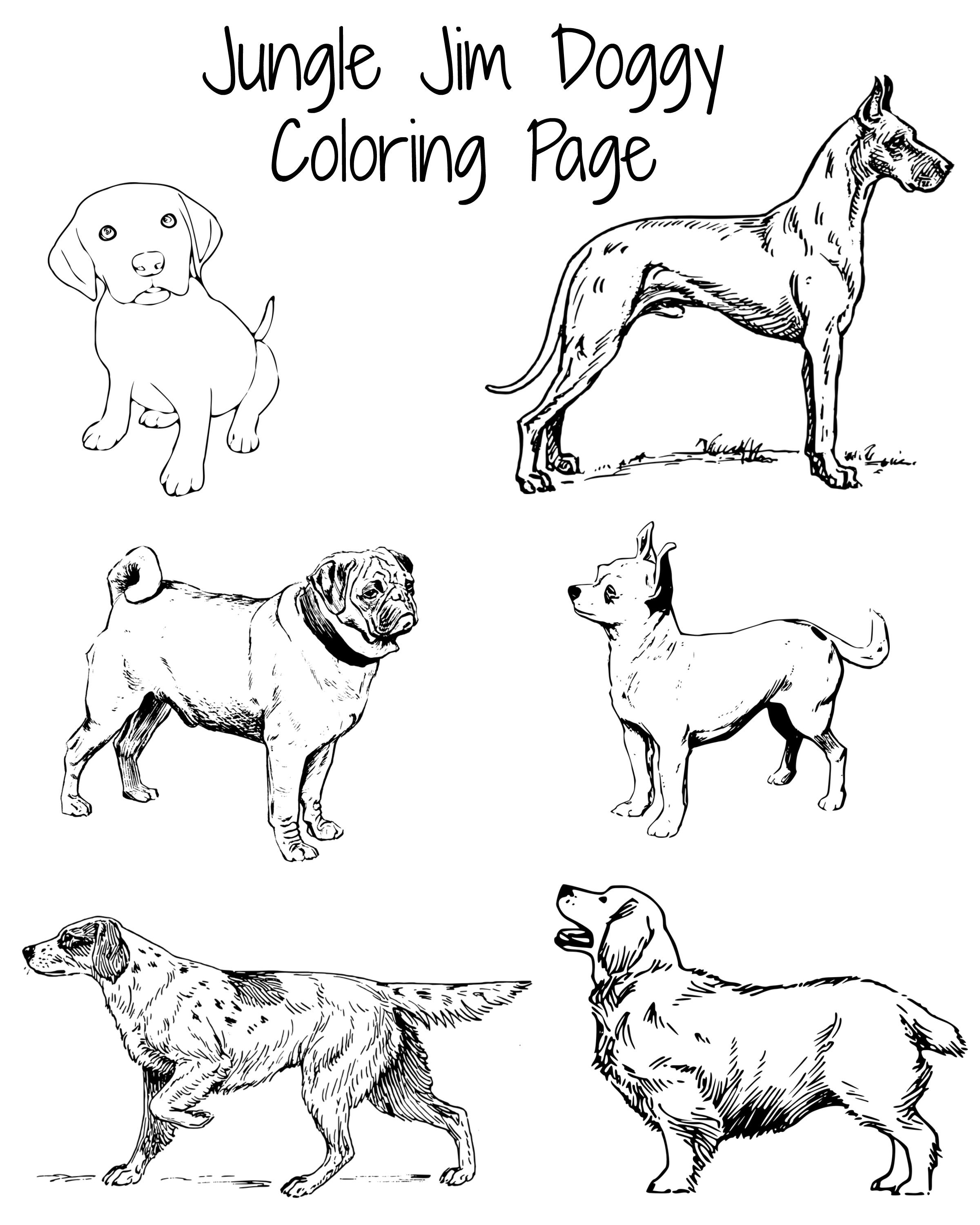 Doggy Coloring Page Perfect For The Dog Days Of Summer