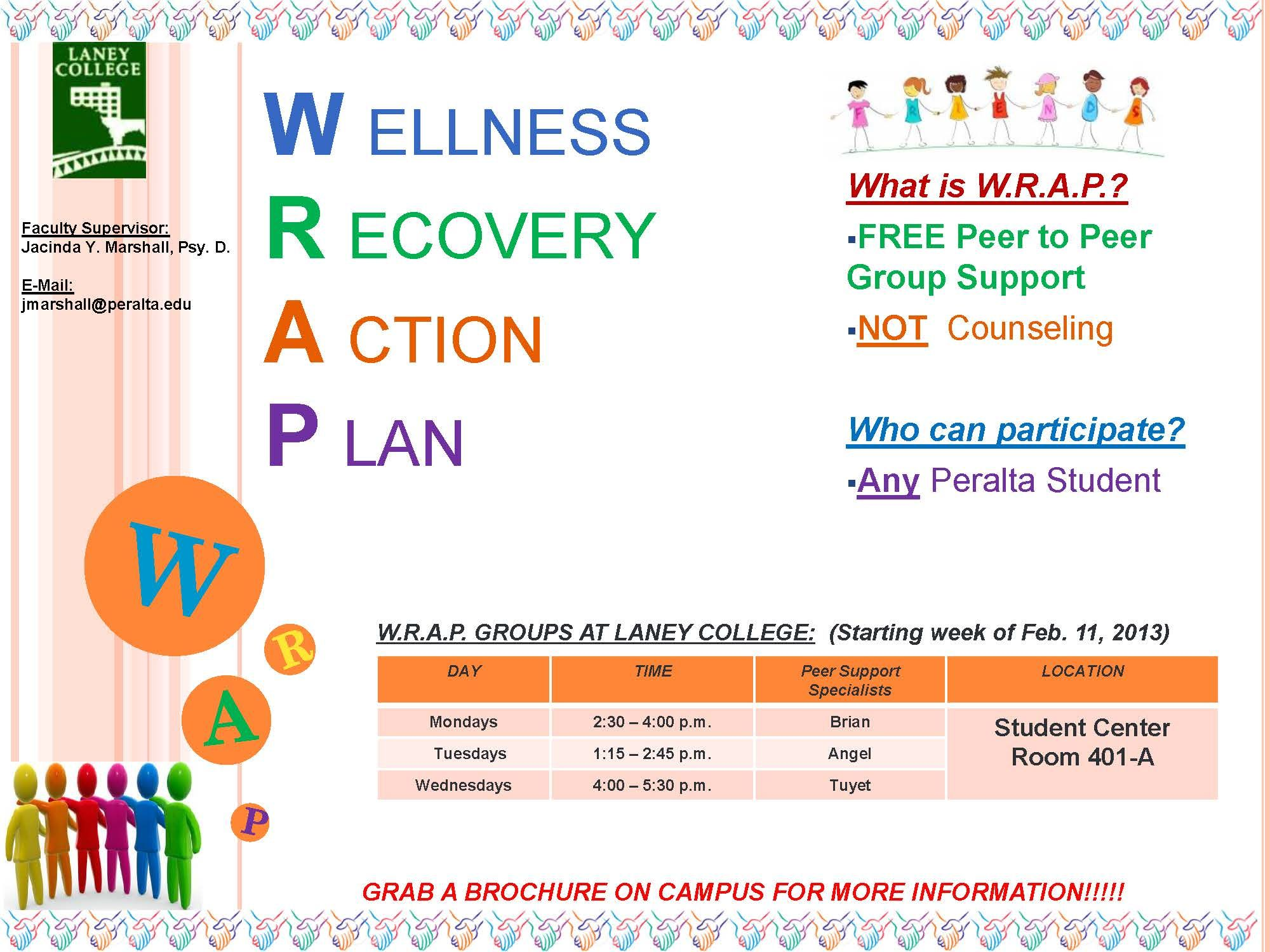 Sample Wrap Wellness Recovery Action Plan Images