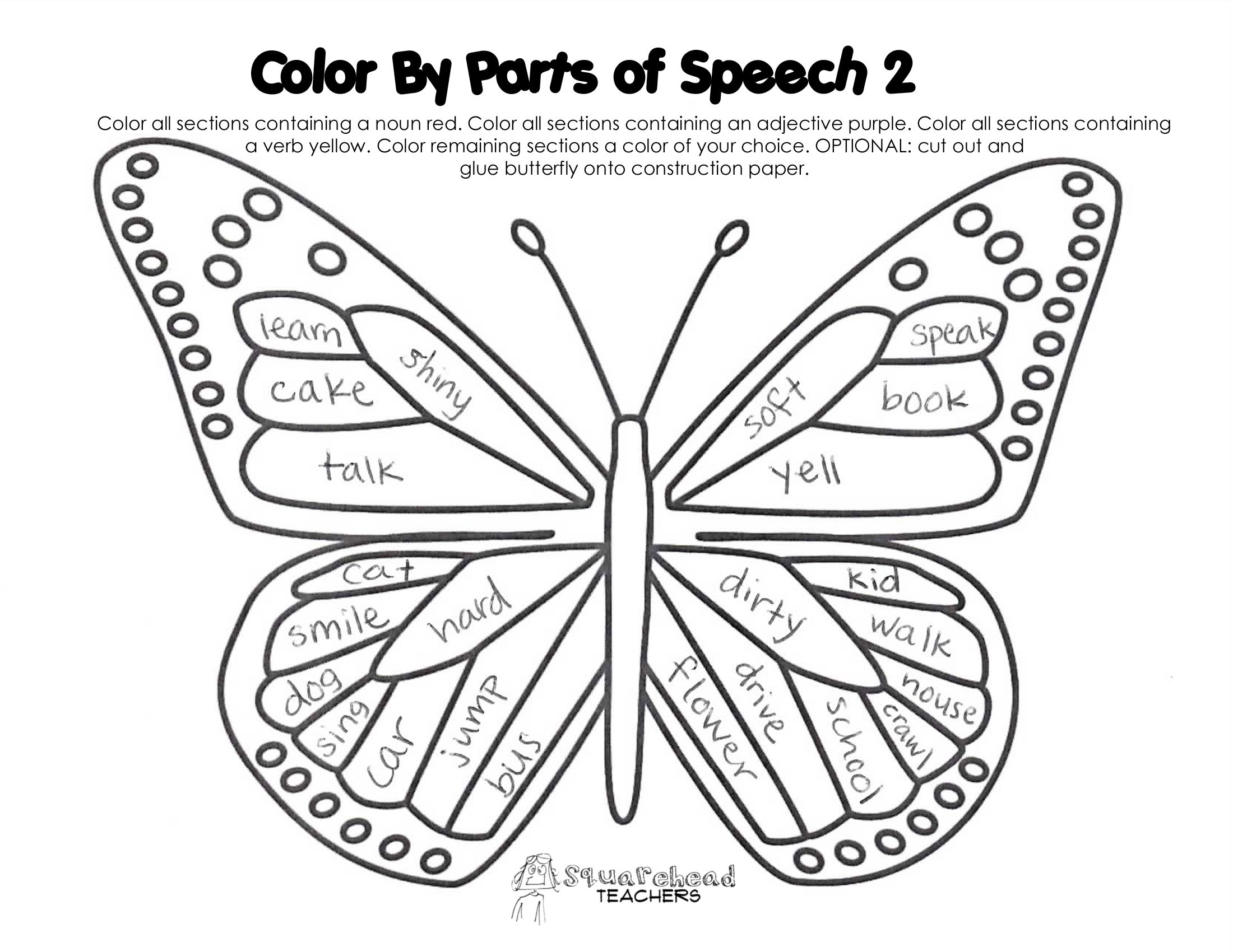 Color By Parts Of Speech 2