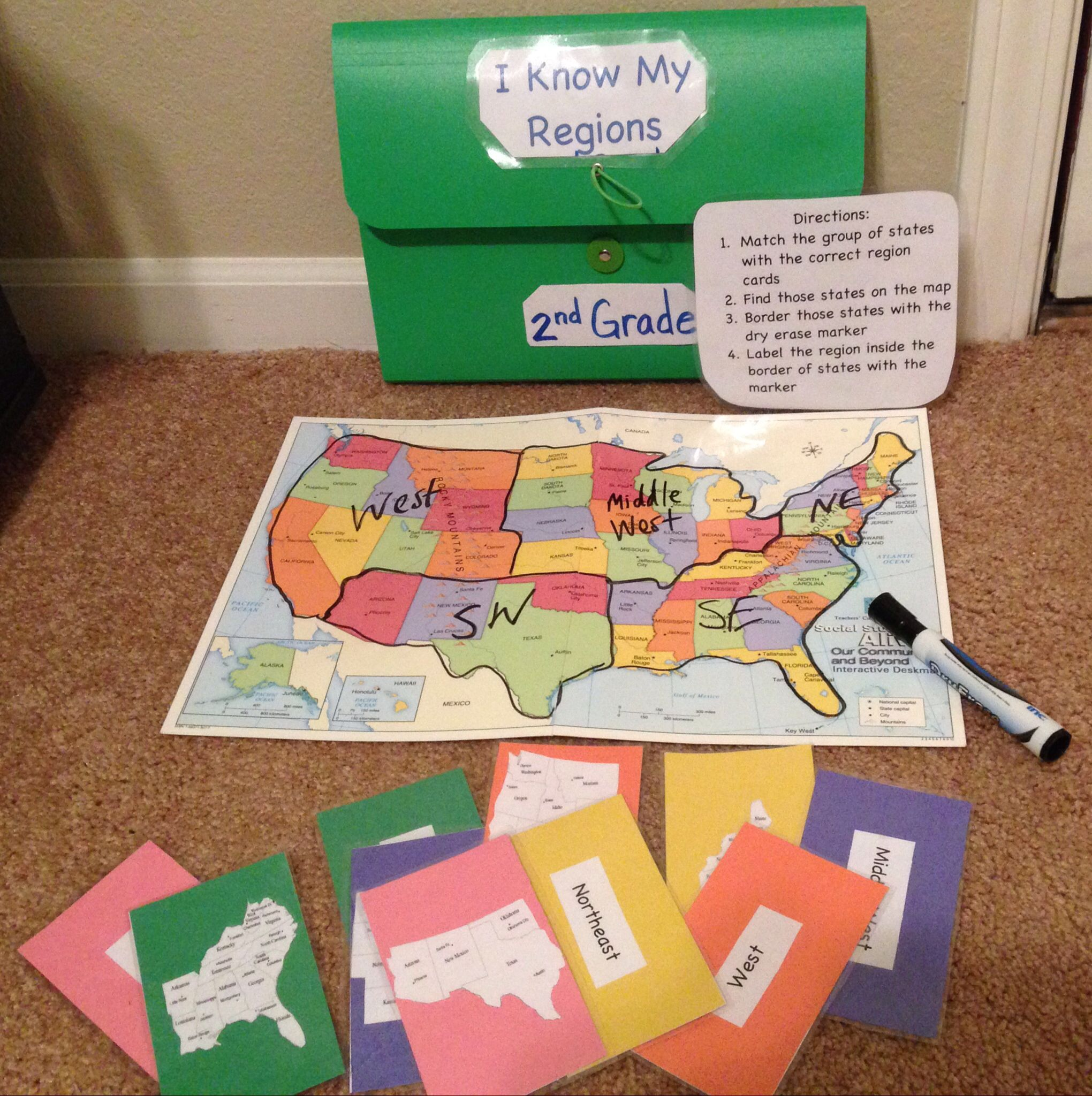 This Geography Workjob For Social Stu S Is Called I Know My Regions And Would Be Great To