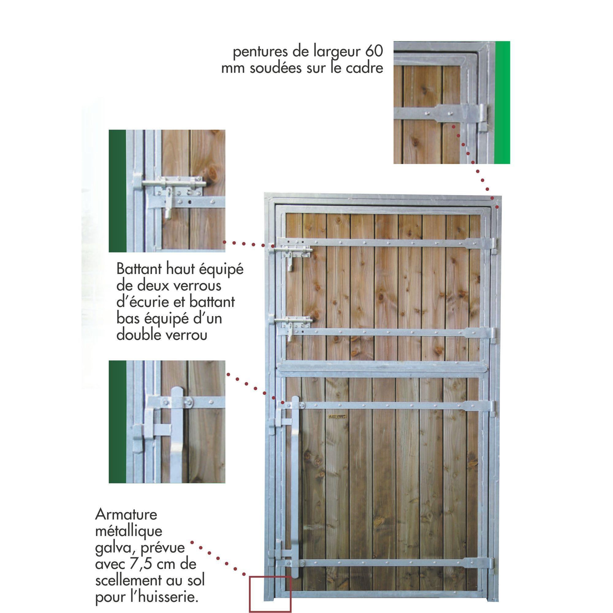 Porte De Box Pour Chevaux 2 Battants Pro Bois Douglas