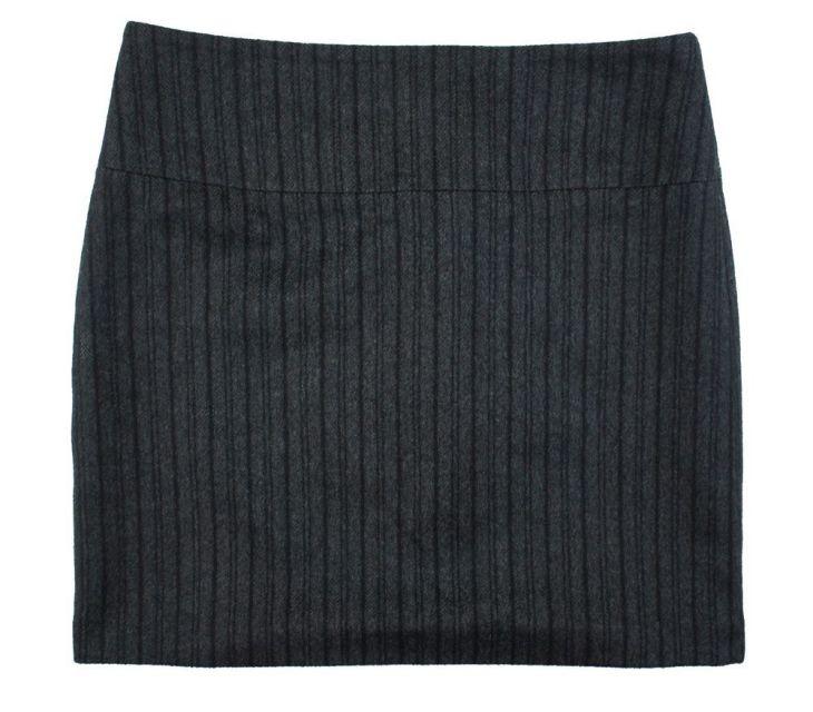 BANANA REPUBLIC Size  Charcoal Gray u Black Stripe Wool Flannel