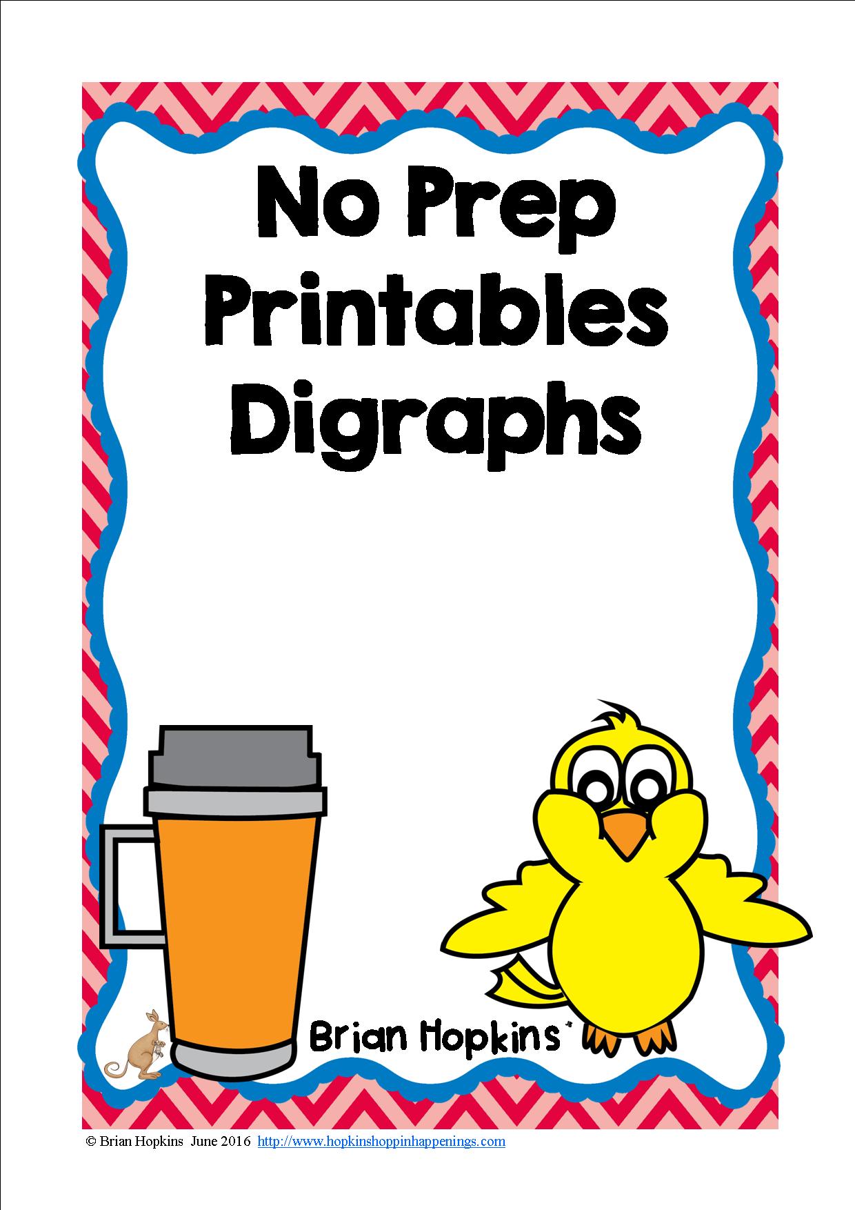 Digraphs No Prep Printables