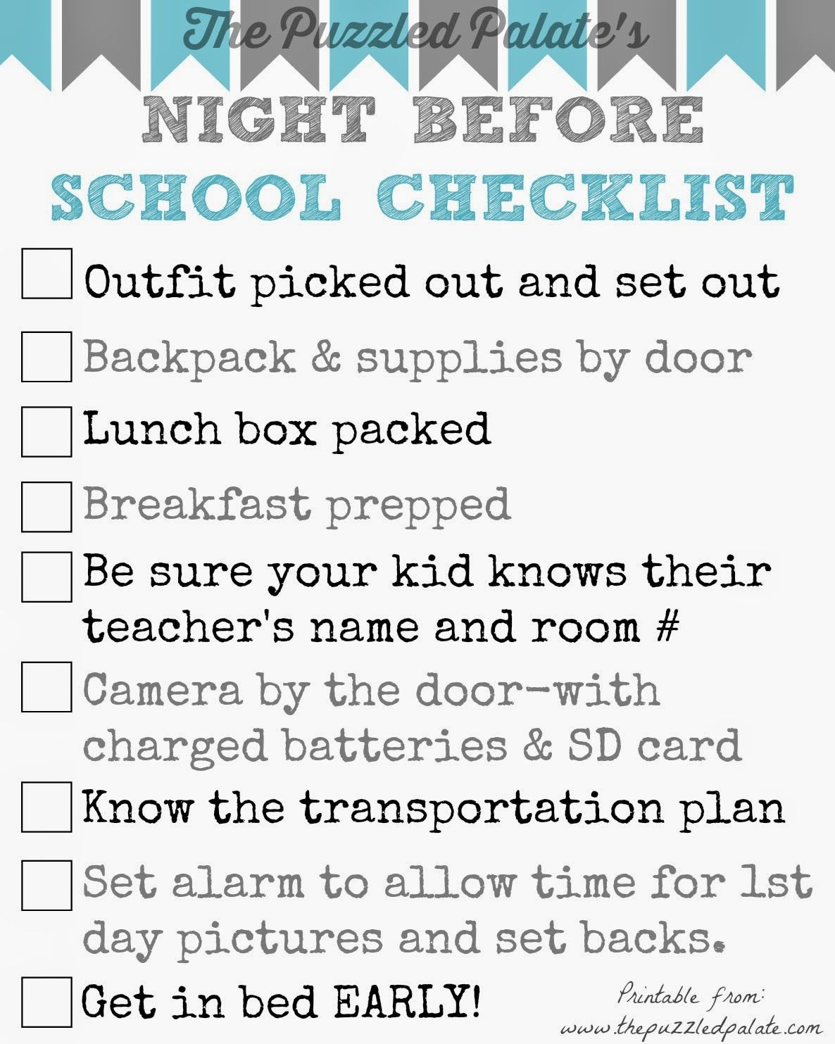 Back To School Checklist Printable Don T Forget Anything