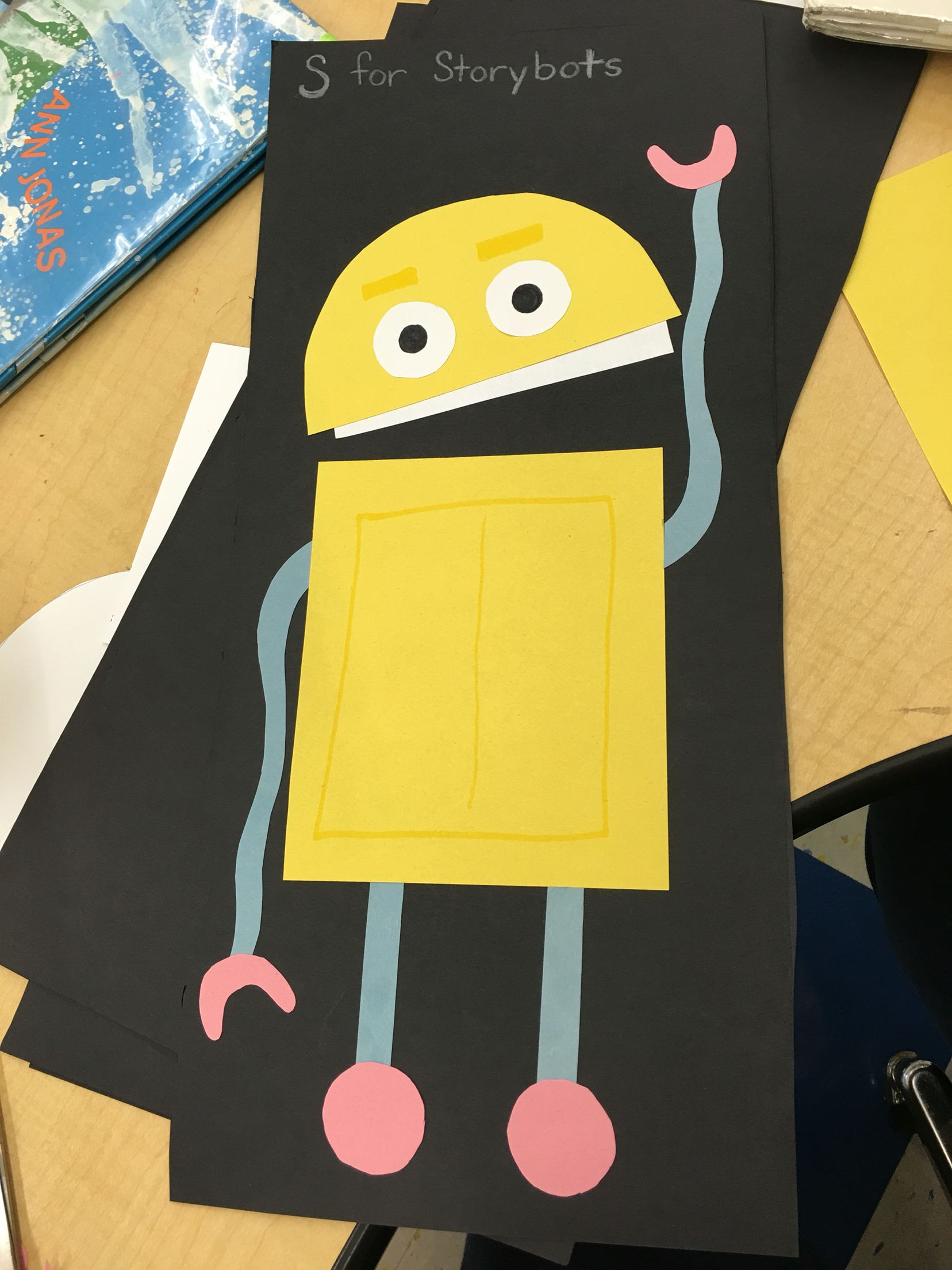 Storybot Craft For Letter S Fine Motor Skills With