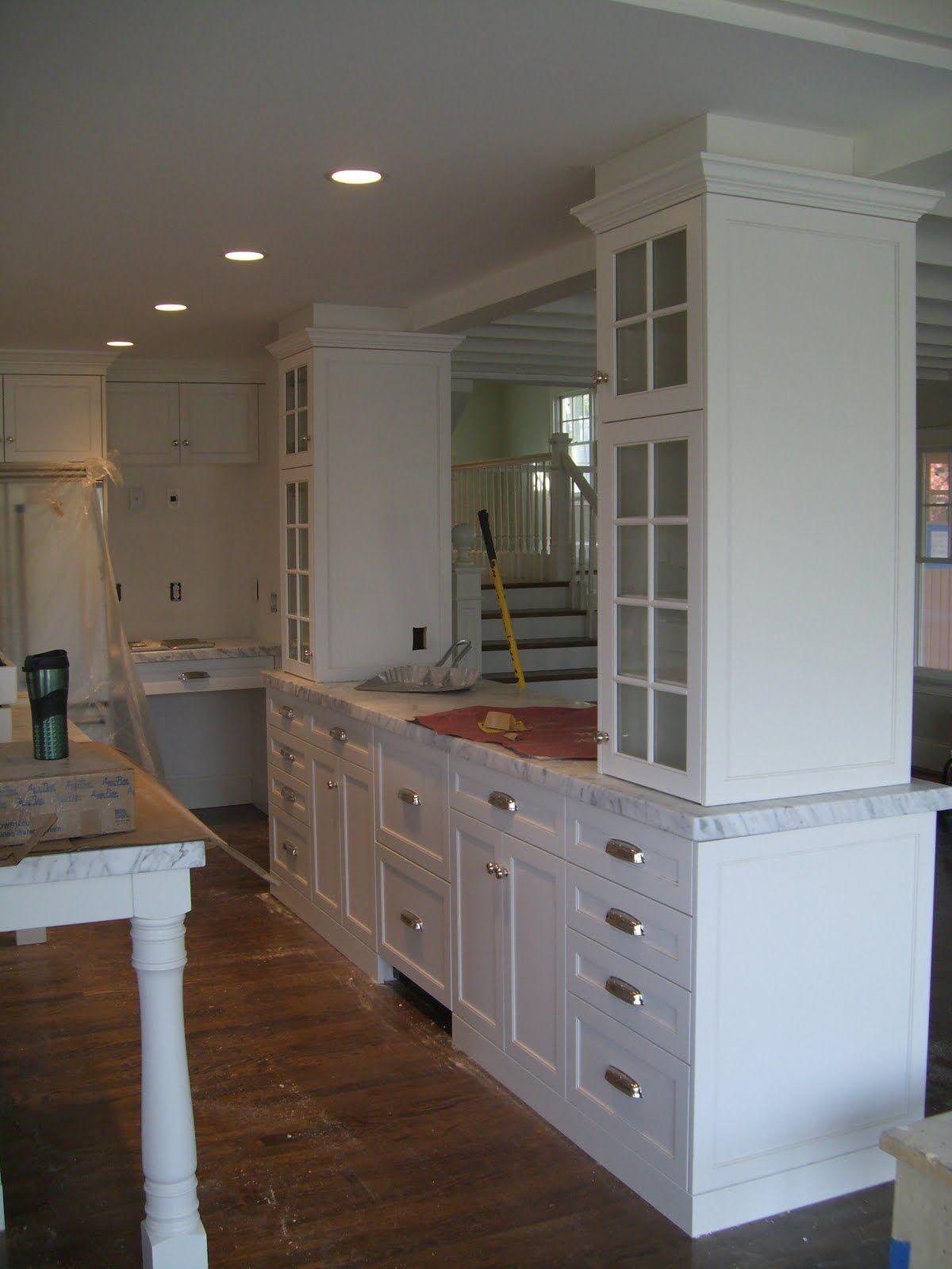 Kitchen Island Support Columns