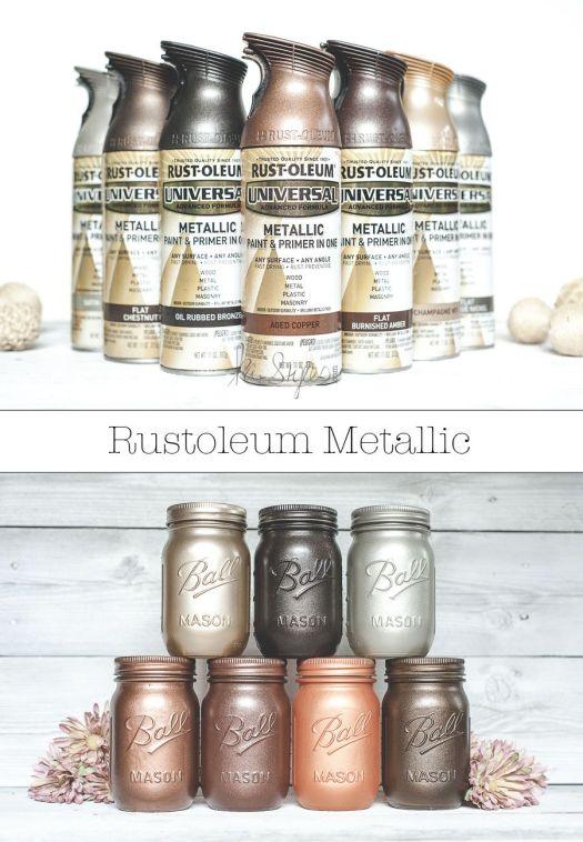 Rust Oleum Metallic Spray Paints