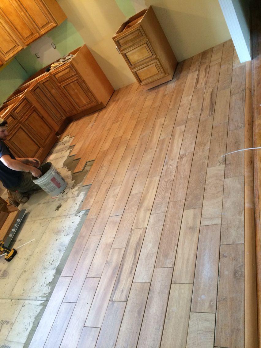 wood tile flooring in farmhouse kitchen remodel gbi tile stone inc madeira oak ceramic on farmhouse kitchen tile floor id=88365