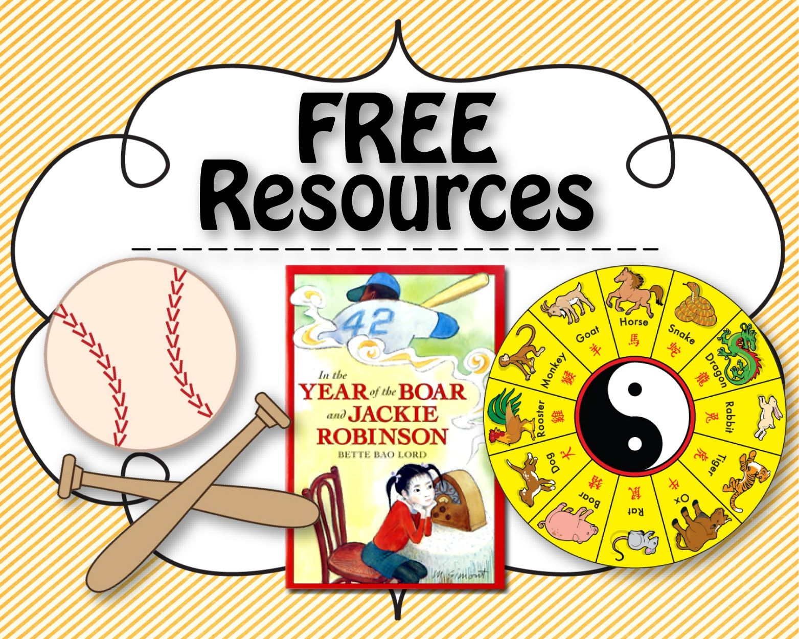 Free Resources Downloads In The Year Of The Boar And Jackie Robinson Chinese New Year Black