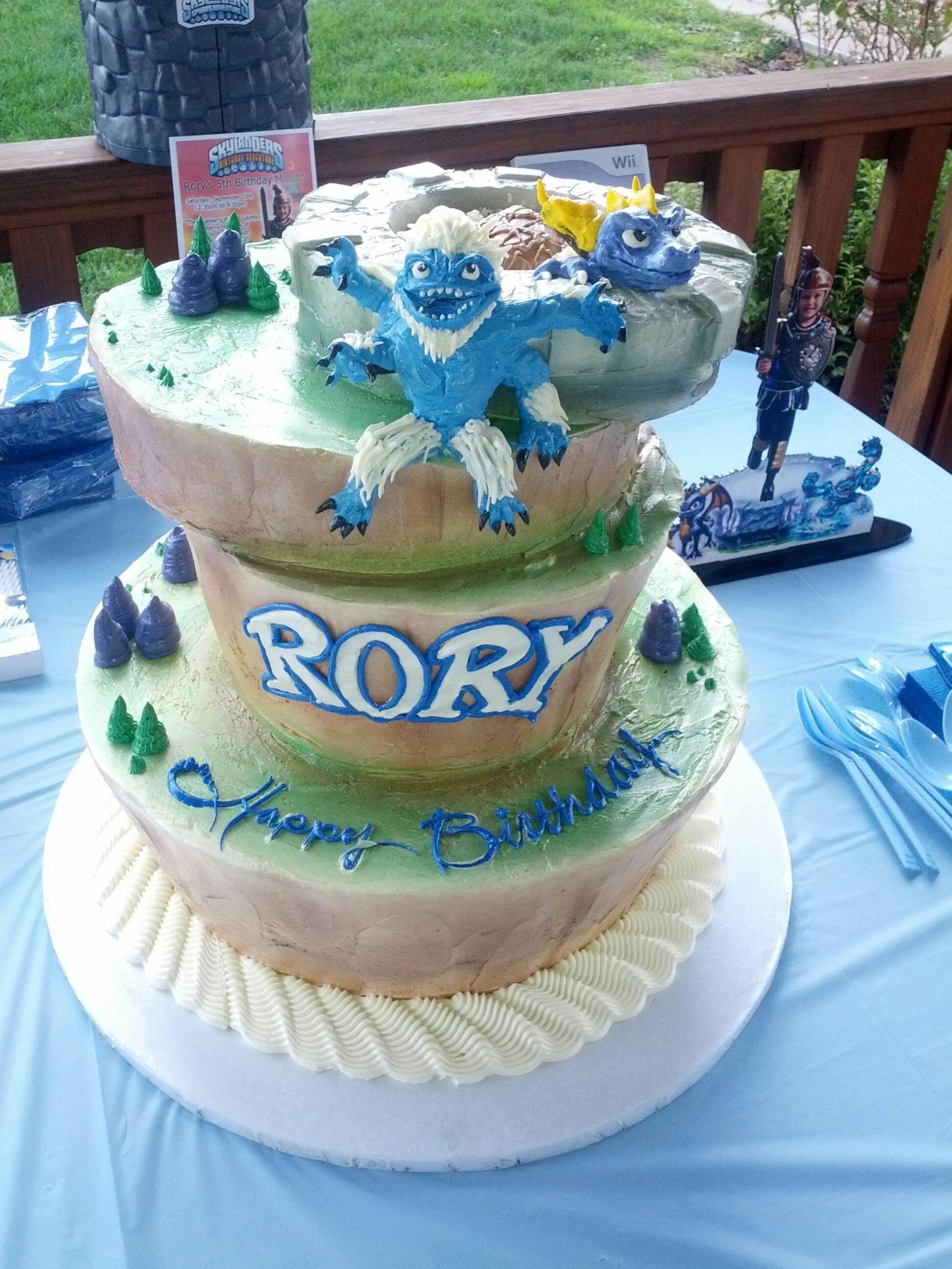 Rory S 5th Birthday Skylander Cake