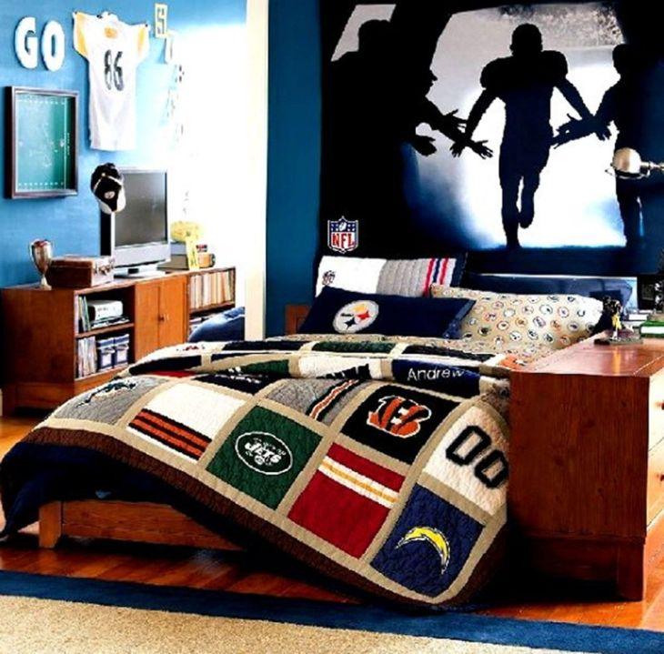 Nfl Bedroom Decor Bedroom Decor Pinterest Bedrooms