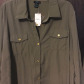 sold army green button down shirtdress nwt buttons colored