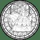 Bellestainedglassvectorcoloringpagebyakiliamethyst