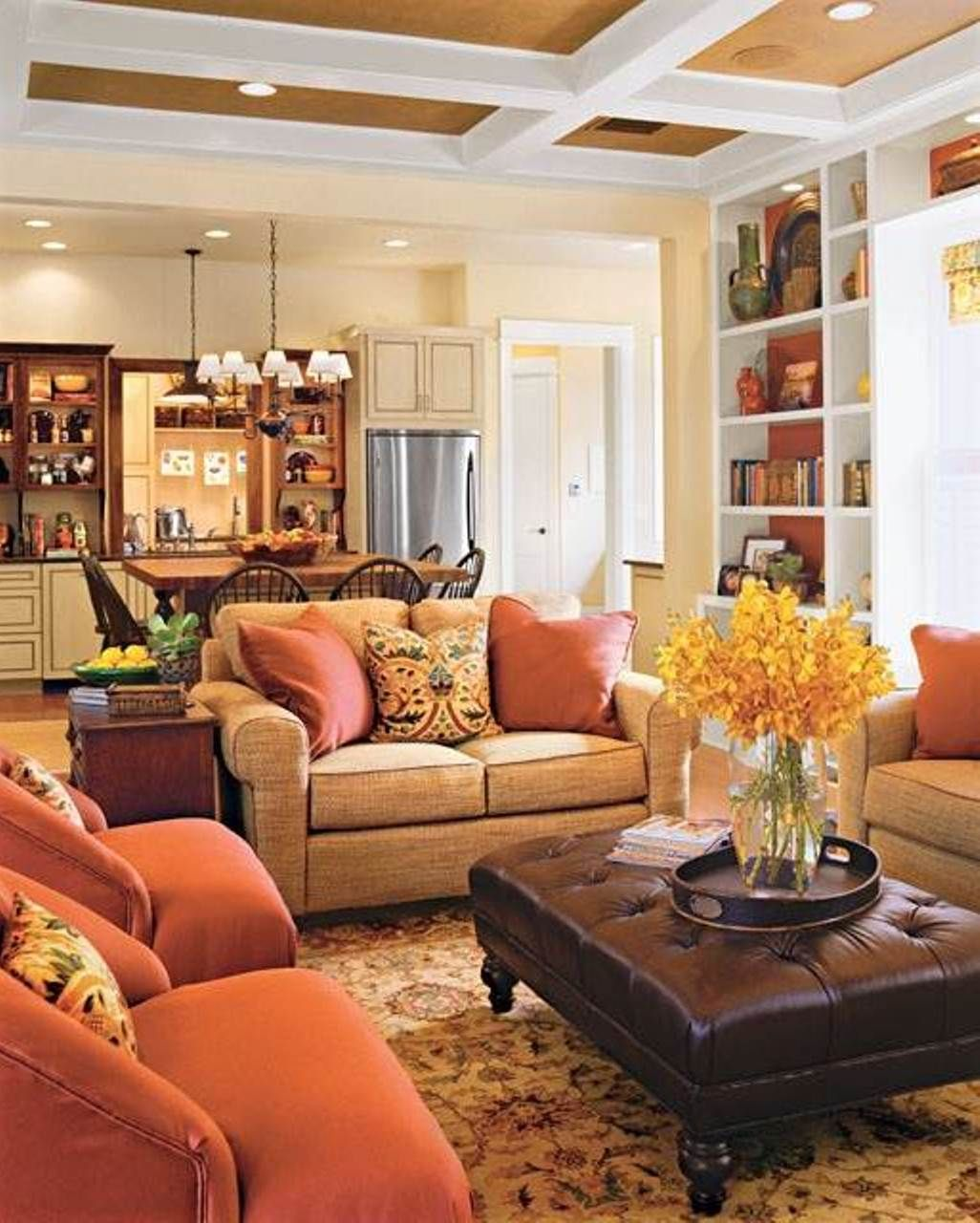 warm family room colors : good family room colors for the walls