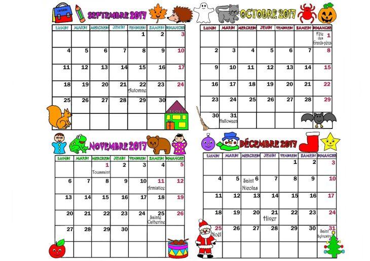 Imprimer Calendrier mois par mois en PDF cliquez  acrobatcom