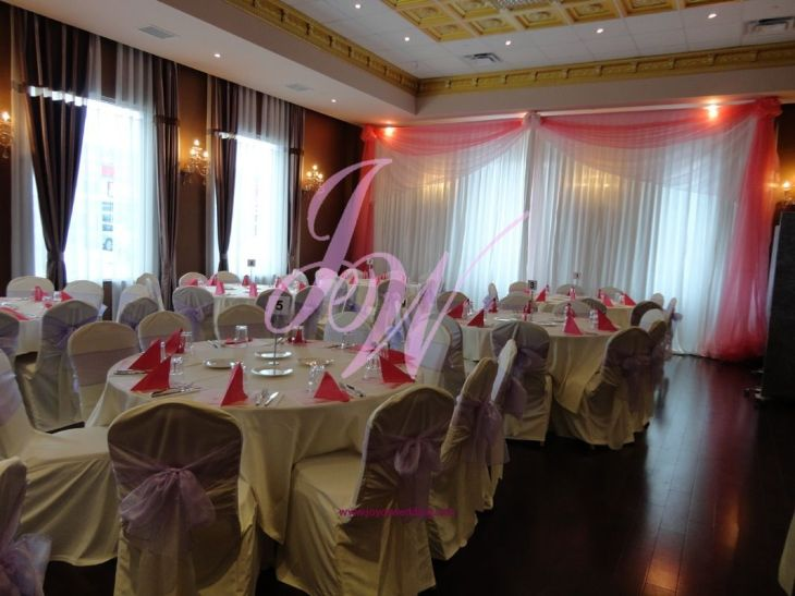 Backdrop and chair decoration for wedding  Wedding Reception