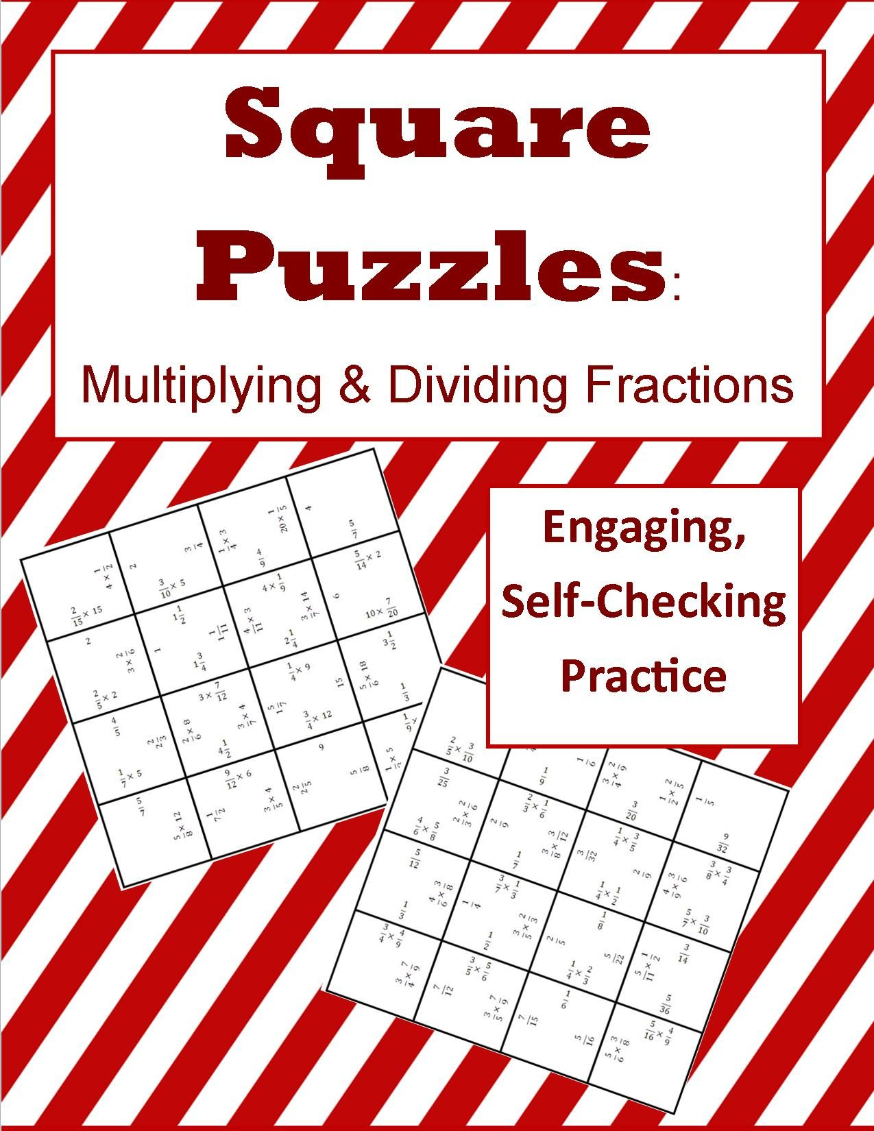 Multiplying Amp Dividing Fractions Square Puzzles