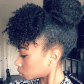Eunicorn hair pinterest natural updo updo and natural