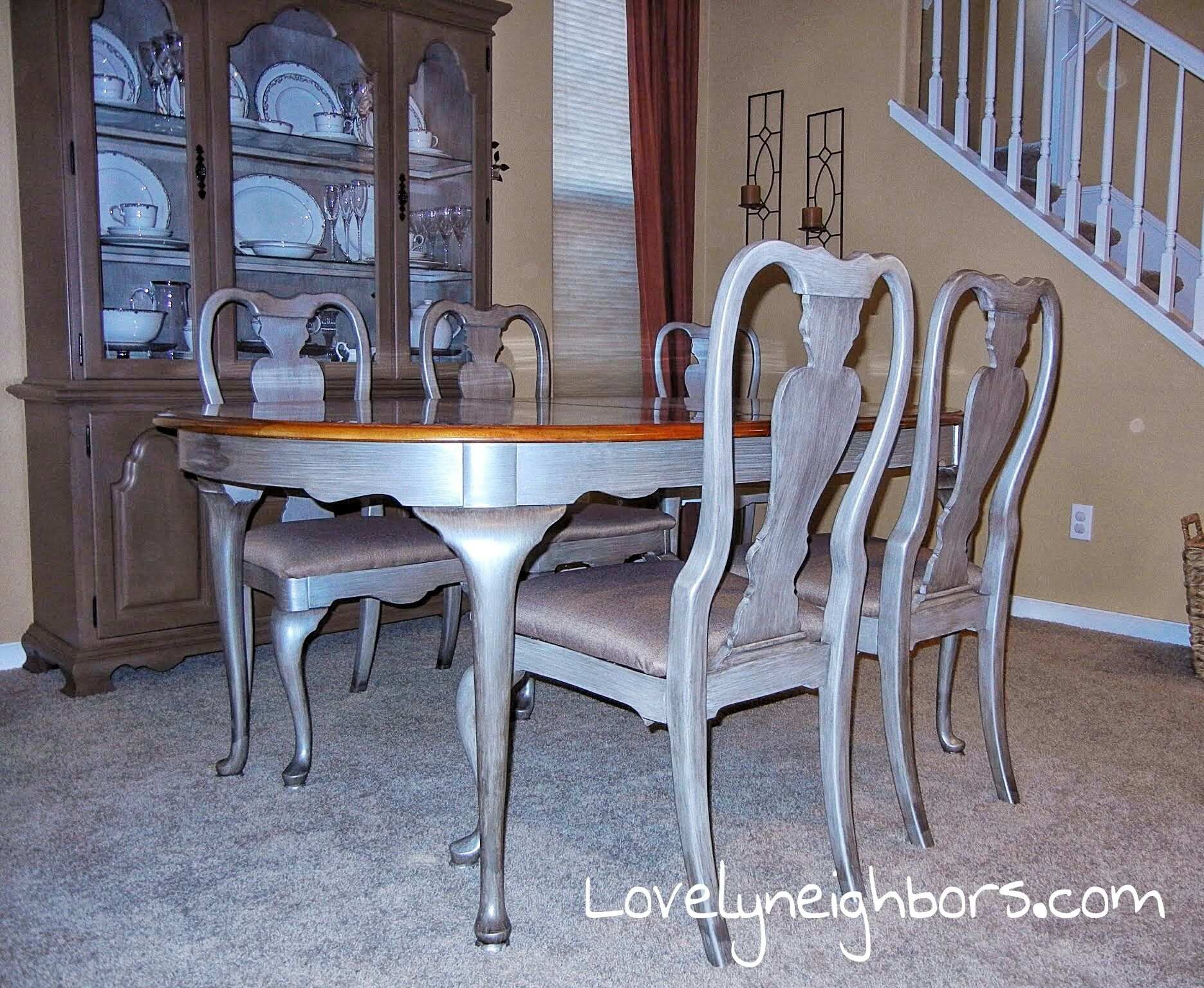 Fresh pictures of painted dining room tables house floor ideas - Paint dining room table ...