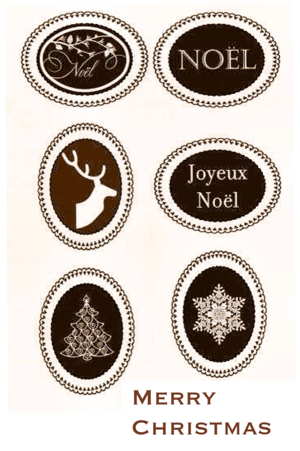 Free Printable Christmas Labels Rustic Labels And Tags Save Image Into Your Camera Roll Email