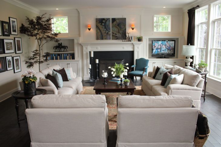 Love this furniture u layout for the family room Todo Pinterest