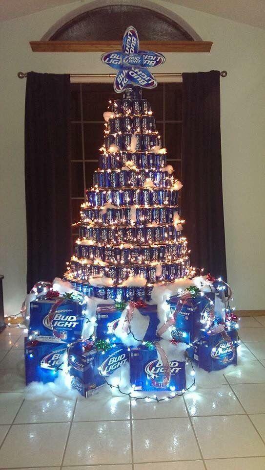 Bud Light Beer Can Christmas Tree Christmas Pinterest
